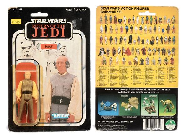 Kenner Star Wars Return of the Jedi Lobot 3 3/4