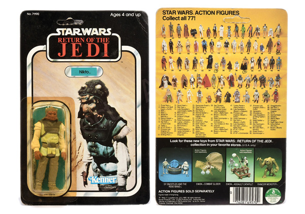 Kenner Star Wars Return of the Jedi Nikto 3 3/4