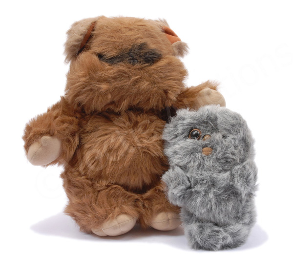 PAIR inc Kenner Star Wars vintage plush Ewoks