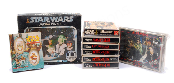 GRP inc Star Wars vintage jigsaws x eight
