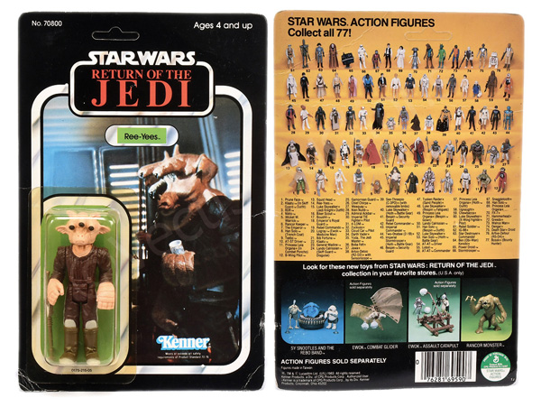 Kenner Star Wars Return of the Jedi Ree-Yees