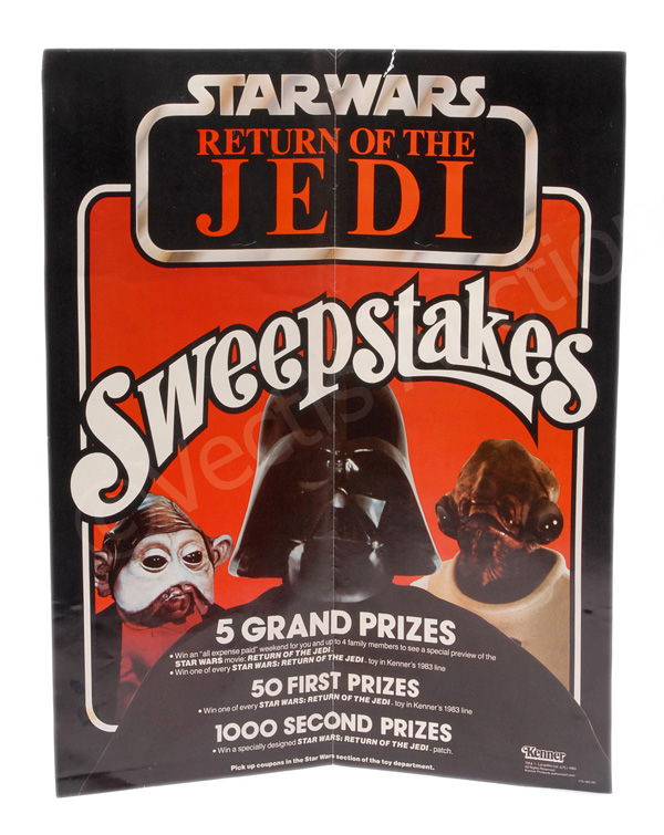 Kenner Star Wars Return of the Jedi Sweepstakes