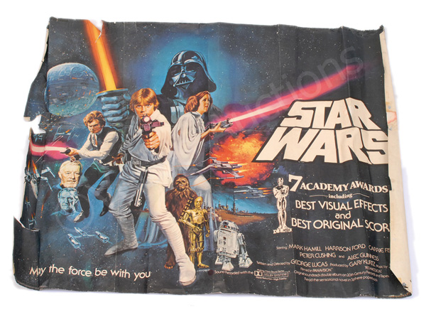 Star Wars 1977 Chantrell post-Oscar quad poster
