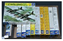 GRP inc Italeri boxed Kit related No.119 HE111