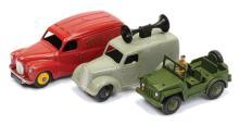 GRP inc Dinky Post-War Loudspeaker Van grey