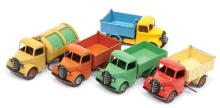 GRP inc Dinky Bedford End Tipper (1) yellow