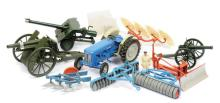 QTY inc Britains unboxed Tractor; Farm
