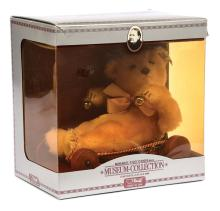 Steiff Museum Collection Baby Bear with Wagon