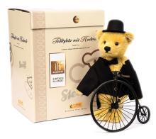 Steiff teddy bear with 'penny-farthing'
