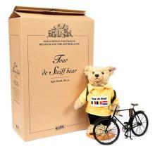 Tour de Steiff teddy bear cyclist, white tag