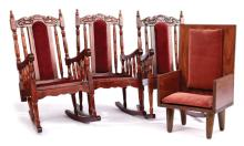 GRP inc Collection of four dark wood chairs