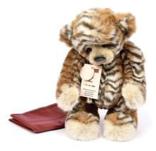 Charlie Bears Abhay leopard plush bear, designed