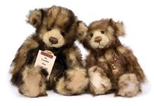 PAIR inc Charlie Bears Rhubarb and Crumble teddy