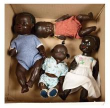 GRP inc Four black composition baby dolls