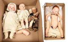 GRP inc Four dolls: (1) & (2) Armand Marseille