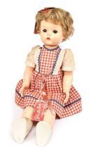 Roberta Ann vinyl doll with hard plastic bent