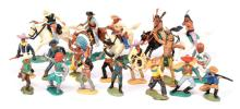 QTY inc Timpo Wild West Series, 5 x Mounted
