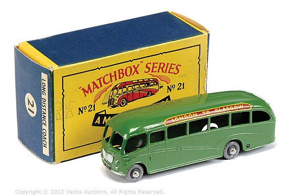Matchbox Regular Wheels No.21B Bedford Duple