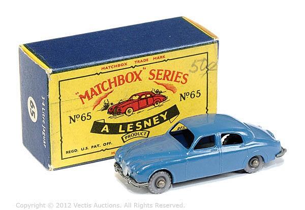Matchbox Regular Wheels No.65A Jaguar 3.4 - blue