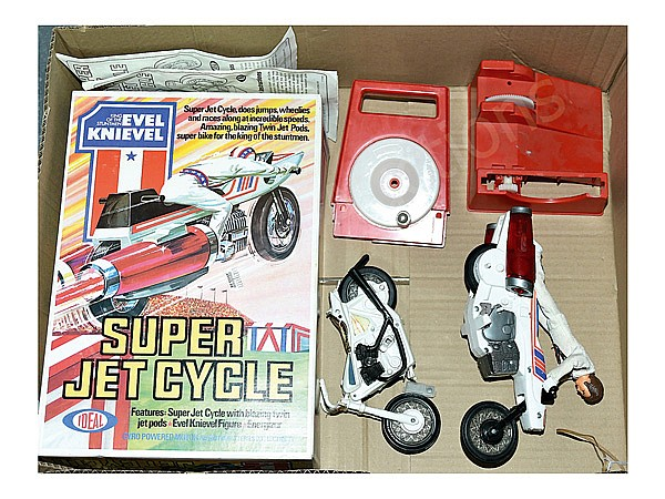 Evel Knievel Stratocycle Up For Auction: Ideal Evel Knievel Super Jet Cycle, Fair