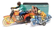 PAIR inc German Made Tinplate Motorcycles