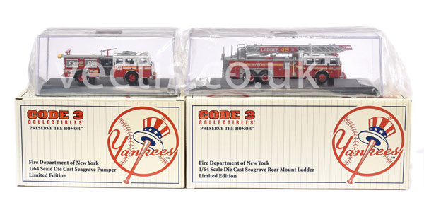 PAIR inc Code 3 Collectables ?Yankees? FDNY
