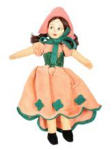 Norah Wellings Dutch Doll, British, 1930s, brown
