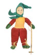 Norah Wellings Skier Boy Doll, British, 1930s