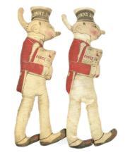 Force Flakes Sunny Jim Cloth Doll pair, British