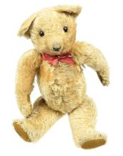 Merrythought golden mohair Teddy Bear, British