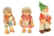 GRP inc Steiff trio, German: (1) Pucki Dwarf