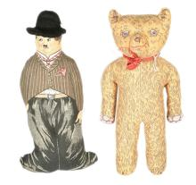 PAIR inc Dean's Rag Book cloth Dolls, British