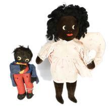 PAIR inc Black Gollies, a pair: Golly Doll