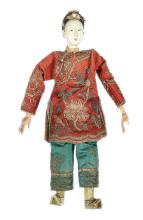 Chinese Opera vintage doll, porcelain head