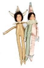PAIR inc Pair of Pre-War Circus Dolls, unknown