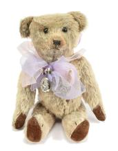 Early American blonde mohair Teddy Bear, black