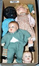 GRP inc Pedigree four dolls: Black hard plastic