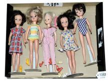 GRP inc Pedigree Sindy five dolls, Fair