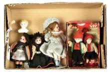 GRP inc Five early small bisque dolls