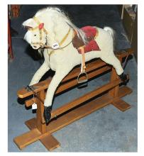 J Collinson Fur Fabric Covered Rocking Horse