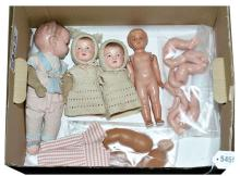 QTY inc Composition and celluloid baby dolls