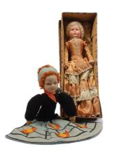 PAIR inc Pair of vintage doll nightdress cases