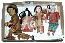 GRP inc Five Oriental dolls, includes Gofun