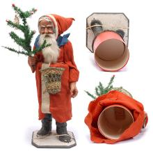 Unusually large Santa Claus candy container
