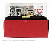 La Mini Miniera race transporter and car set