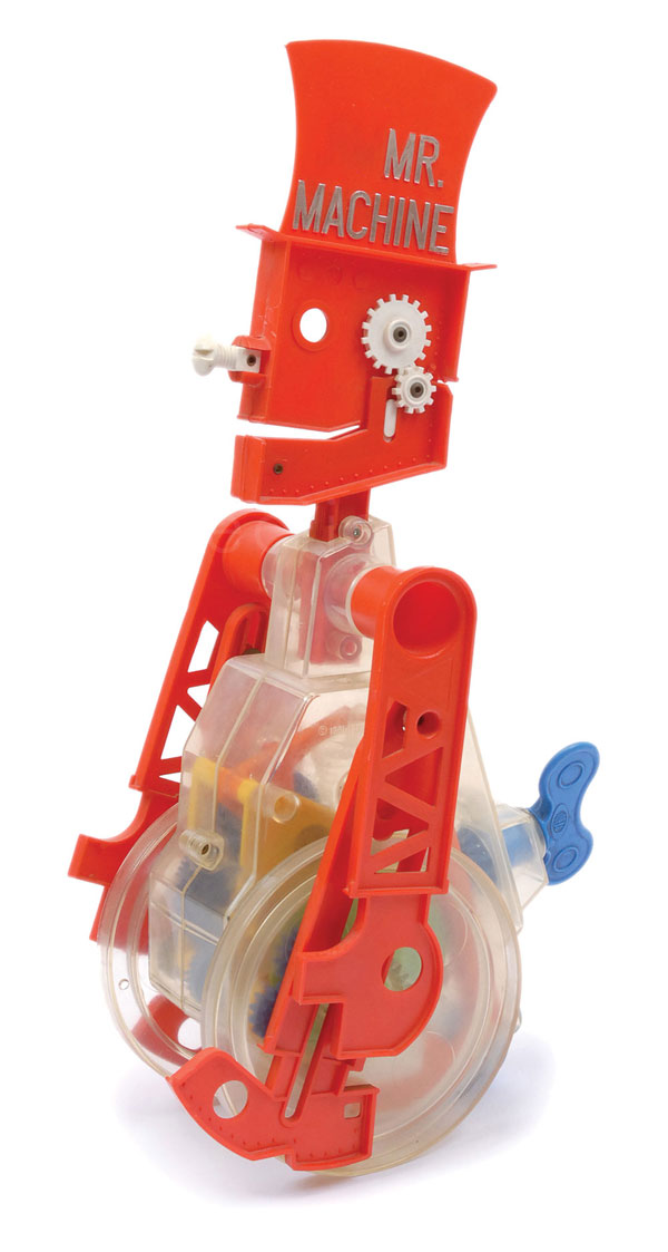 Ideal (USA) Mr Machine. Clockwork plastic robot