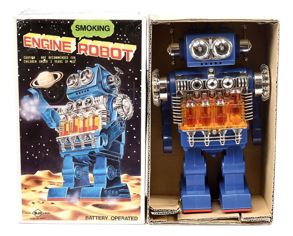 SH (Japan) Smoking Engine Robot. Battery