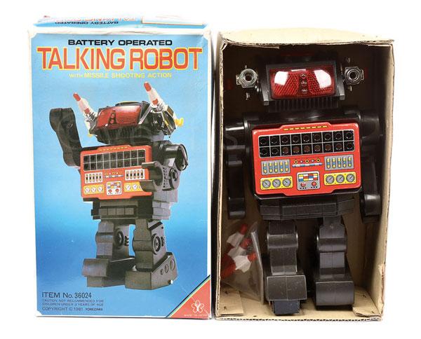 Yonezawa (Japan) Talking Robot. Plastic