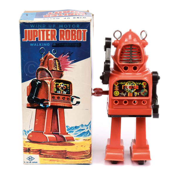 KO (Japan) Jupiter Robot. Clockwork plastic