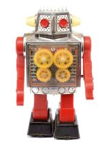 SH (Japan) Gear Robot. Plastic and tinplate
